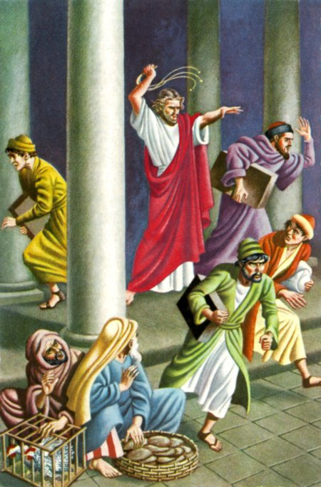 Christ Driving the Moneylenders from the Temple (John 2:15)